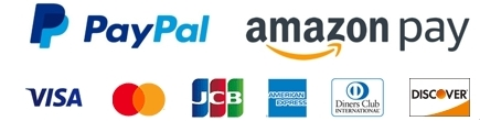 VISA Master JCB Diners Amex PayPal AmazonPay