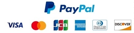 VISA Master JCB Diners Amex PayPal AmazonPay